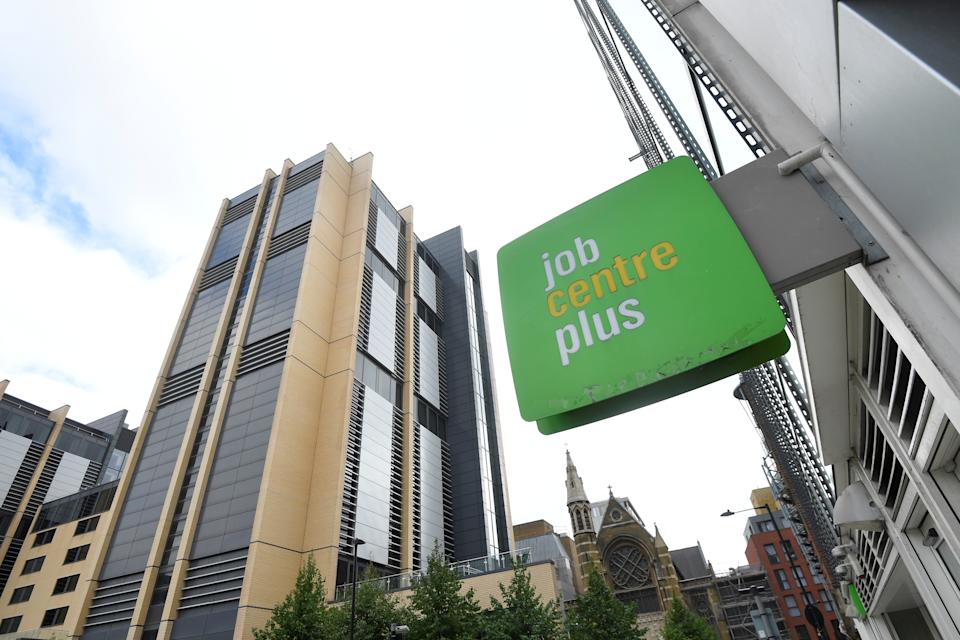 A branch of Jobcentre Plus in London. Photo: Toby Melville/Reuters