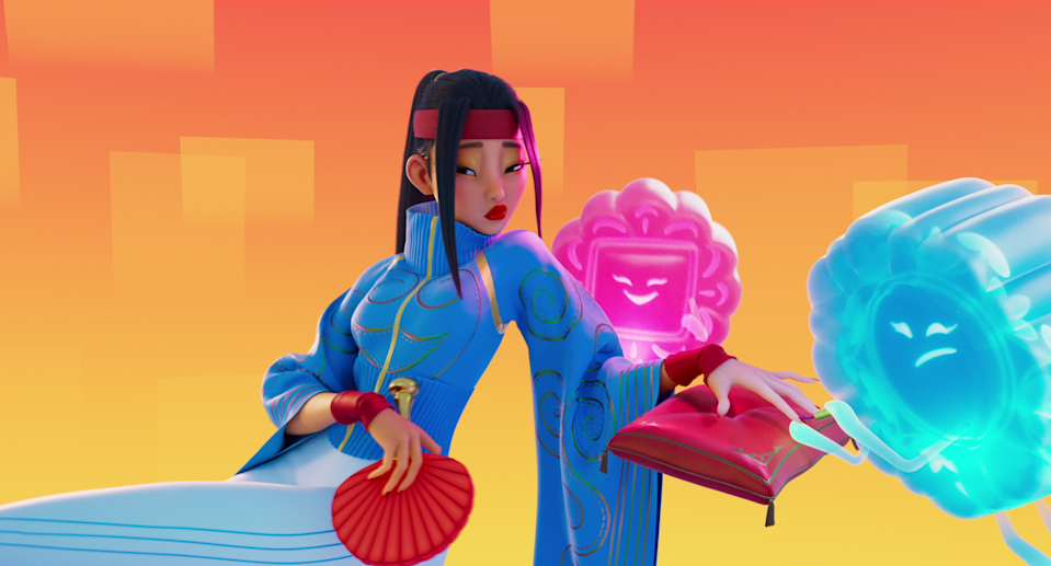 """The animated character Chang'e in """"Over the Moon."""""""