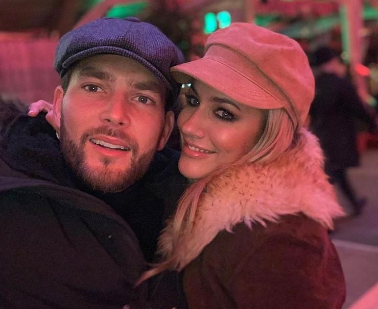 Caroline Flack's boyfriend Lewis Burton has confirmed the pair are still dating following the Love Island host's assault charge last month (Instagram)