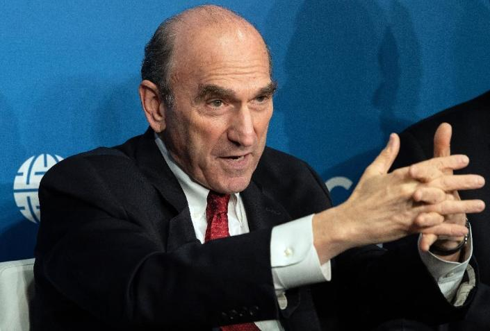 Elliot Abrams, the US envoy leading the effort to oust Venezuelan President Nicolas Maduro, says the country can start to recover economically if its government changes (AFP Photo/NICHOLAS KAMM)