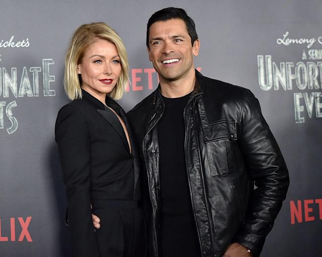 Kelly Ripa and Mark Consuelos at the premiere of <em>ASeries of Unfortunate Events</em>in January 2017 in New York City. (Photo: Mike Coppola/Getty Images)