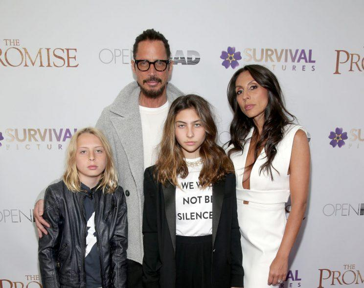 NEW YORK, NY - APRIL 18: Chris Cornell with family attend   Chris Cornell's Family Says He Wouldn't Intentionally Take His Own Life and Had Taken 'an Extra Ativan or Two' Before His Death 999df36bd6fcccaccea0fa2f0ea59603