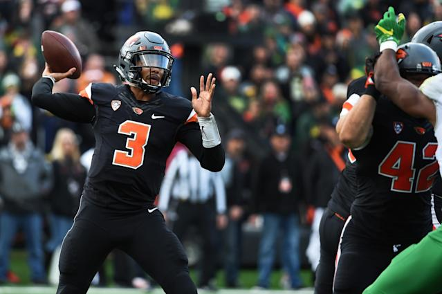 """<a class=""""link rapid-noclick-resp"""" href=""""/ncaaf/players/244347/"""" data-ylk=""""slk:Marcus McMaryion"""">Marcus McMaryion</a> started six games forOregon State in 2016. (Getty Images)"""