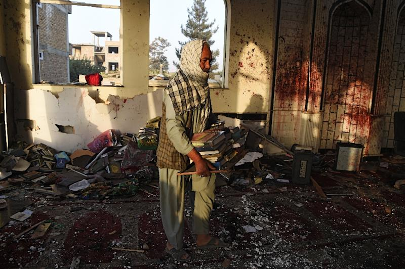 IS has carried out multiple devastating attacks in the capital Kabul, including a deadly suicide bombing at the city's Imam Zaman Shiite mosque in October (AFP Photo/WAKIL KOHSAR)