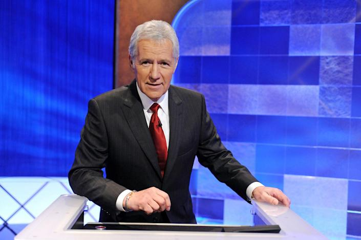 """<p>In 2021, the beloved<em> Jeopardy!</em> host was honored with a Daytime Emmy nomination, ultimately winning for outstanding game show host following his November <a href=""""https://people.com/tv/jeopardy-host-alex-trebek-dead/"""" rel=""""nofollow noopener"""" target=""""_blank"""" data-ylk=""""slk:2020 death"""" class=""""link rapid-noclick-resp"""">2020 death</a>. In his lengthy career, Trebek was nominated a whopping 34 times for <em>Jeopardy! </em>and <em>Classic Concentration, </em>won eight times for <em>Jeopardy!</em>  and in 2011, was presented with the Lifetime Achievement Award. </p>"""