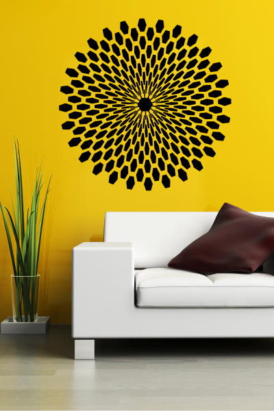 This undated publicity photo provided by courtesy of WALLTAT.com shows a 3D wall decal on a wall in a drawing room. The decals are growing in popularity because they can easily be installed and removed without damaging walls or paint. (AP Photo/Courtesy of WALLTAT.com)