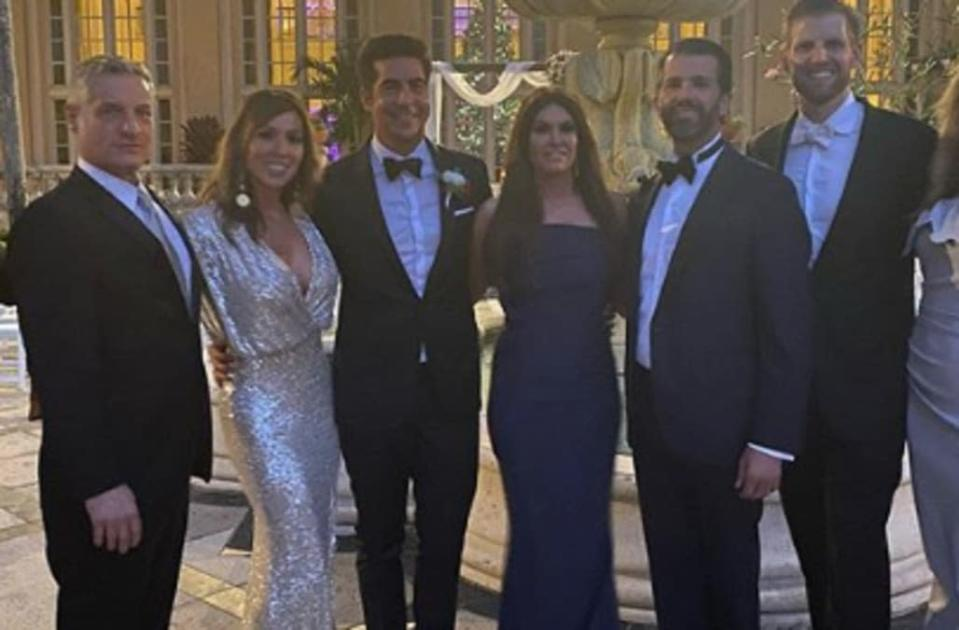 'Real Housewives' star Kelly Dodd called out for posing with Trump brothers at Fox News star's wedding