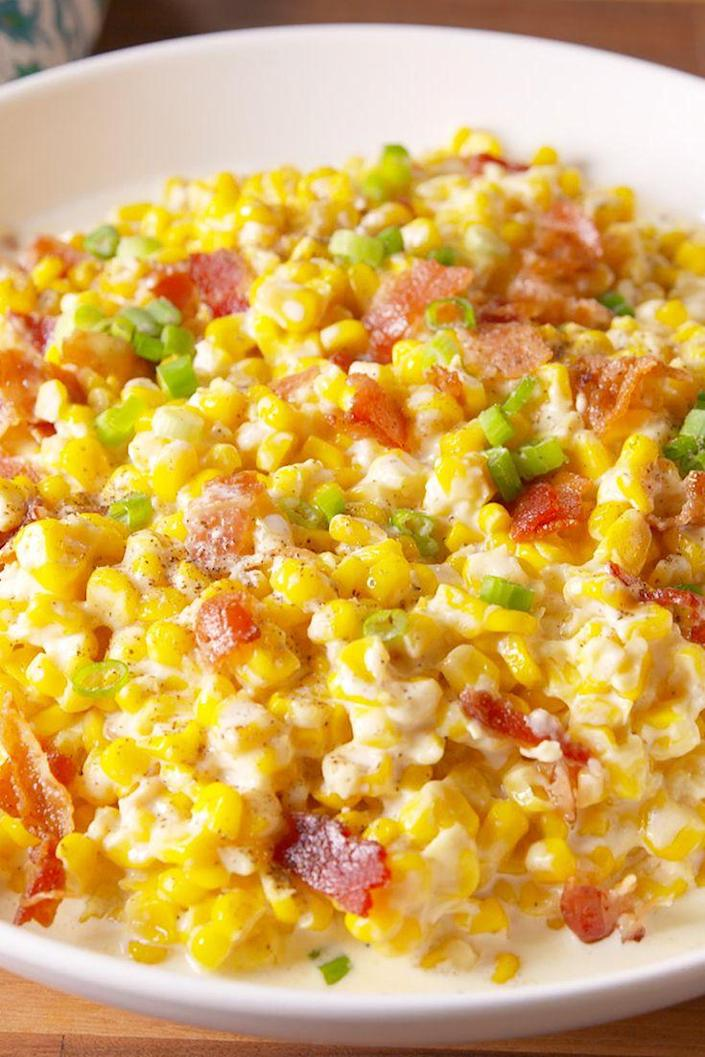 """<p>Here's one less thing you have to actually cook.</p><p>Get the recipe from <a href=""""https://www.delish.com/cooking/recipe-ideas/recipes/a50206/slow-cooker-creamed-corn-recipe/"""" rel=""""nofollow noopener"""" target=""""_blank"""" data-ylk=""""slk:Delish"""" class=""""link rapid-noclick-resp"""">Delish</a>.</p>"""