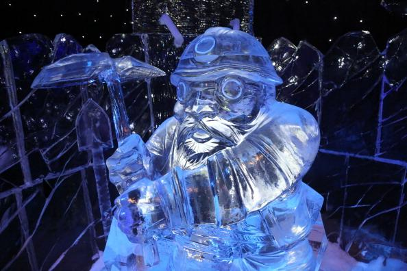 BRUGGE, BELGIUM - DECEMBER 05: Ice Sculptures are displayed at the Snow and Ice Sculpture Festival on December 5, 2012 in Brugge, Belgium. (Photo by Mark Renders/Getty Images)