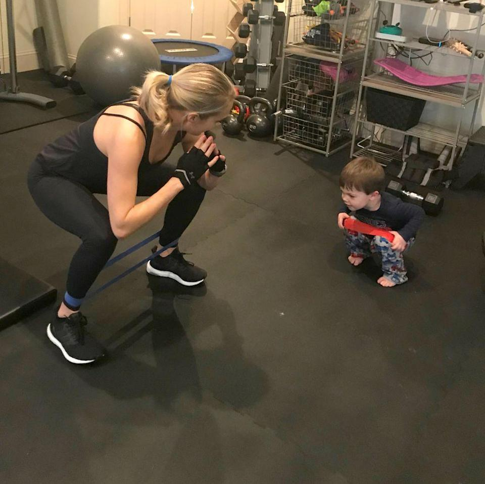 Carrie Underwood and son