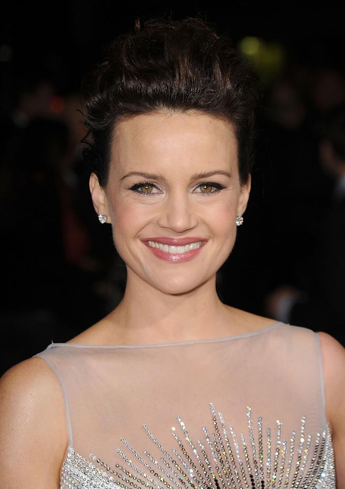 """<a href=""""http://movies.yahoo.com/movie/contributor/1800024683"""">Carla Gugino</a> at the Los Angeles premiere of <a href=""""http://movies.yahoo.com/movie/1810147419/info"""">Faster</a> on November 22, 2010."""