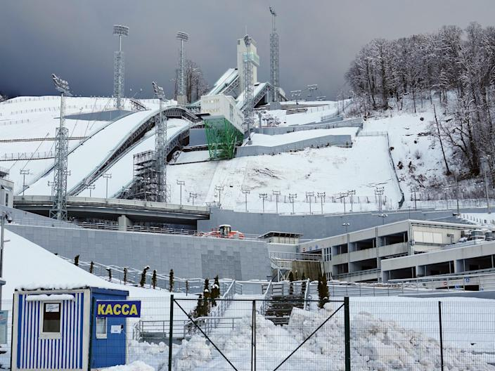 ski jump abandoned at the olympic games in sochi