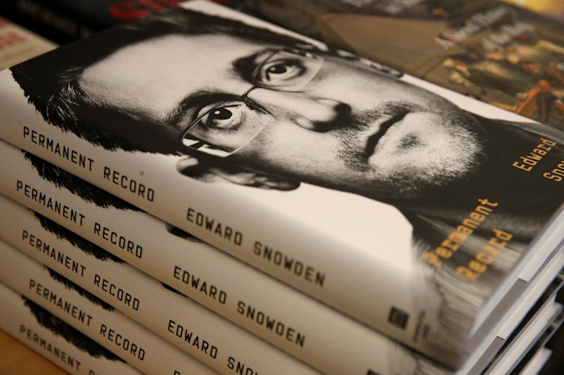 "SAN FRANCISCO, CALIFORNIA - SEPTEMBER 17: Newly released ""Permanent Record"" by Edward Snowden is displayed on a shelf at Books Inc. on September 17, 2019 in San Francisco, California. The U.S. Justice Department has filed suit against Snowden, a former Central Intelligence Agency employee and contractor for the National Security Agency, alleging the book violates non-disclosure agreements. (Photo by Justin Sullivan/Getty Images)"