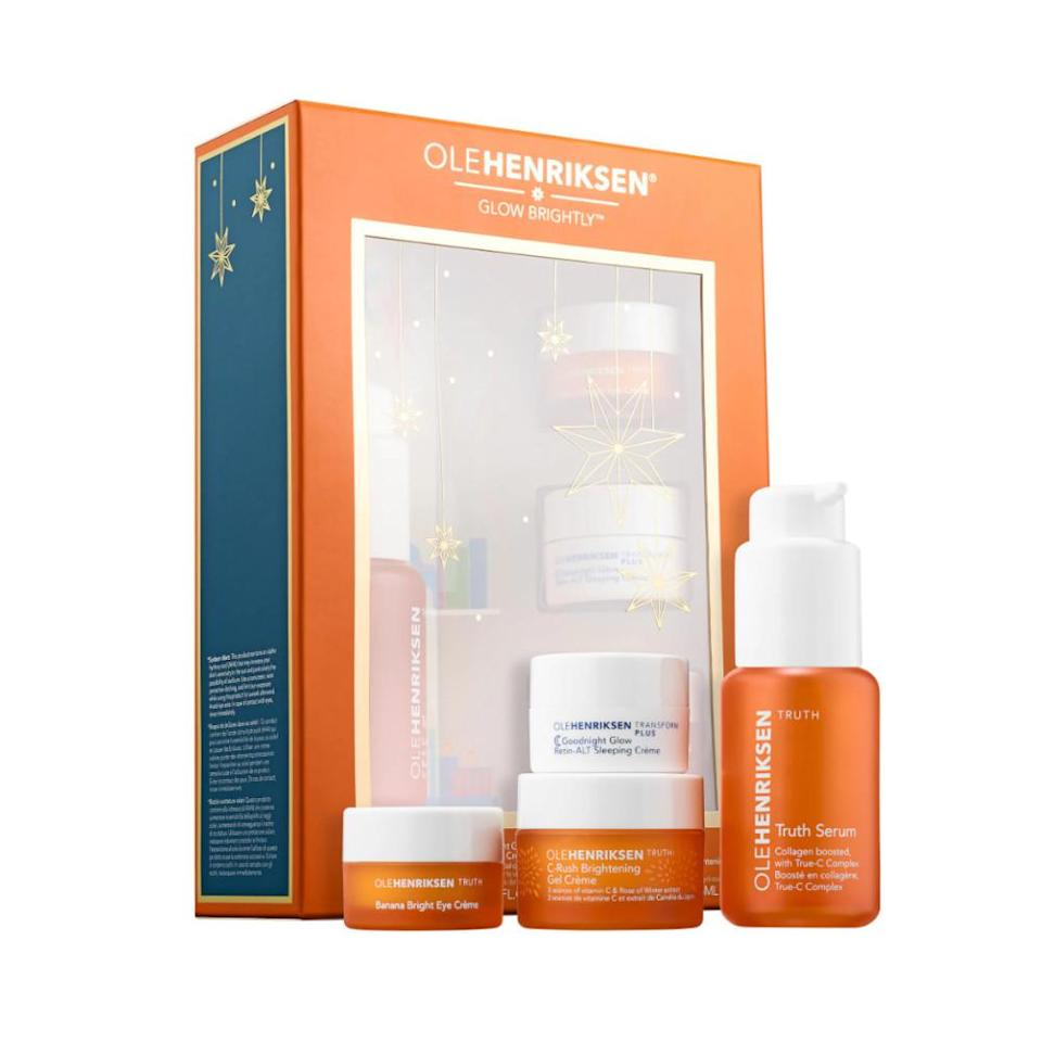 """<p>This set of skincare products addresses it all, from dullness and uneven texture to fine lines and dryness. Each formula works to deliver a radiant complexion in as little as four weeks.<br><strong><a rel=""""nofollow noopener"""" href=""""https://fave.co/2zPU6cU"""" target=""""_blank"""" data-ylk=""""slk:Shop it"""" class=""""link rapid-noclick-resp"""">Shop it</a>: </strong>$49, <a rel=""""nofollow noopener"""" href=""""https://fave.co/2zPU6cU"""" target=""""_blank"""" data-ylk=""""slk:sephora.com"""" class=""""link rapid-noclick-resp"""">sephora.com</a> </p>"""