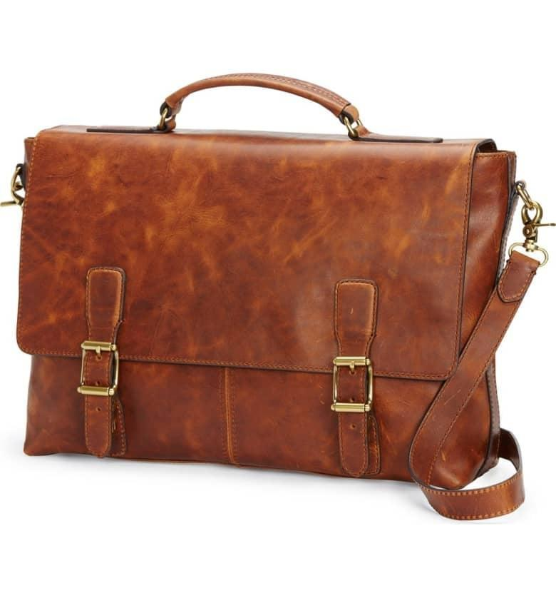<p>This <span>Frye Logan Leather Briefcase</span> ($578) is the epitome of class, style, and all things business.</p>