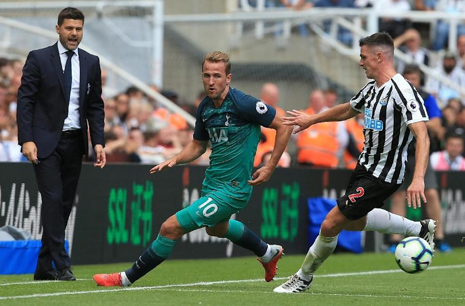 Tottenham's Harry Kane in action at Newcastle on Saturday (AFP Photo/Lindsey PARNABY)