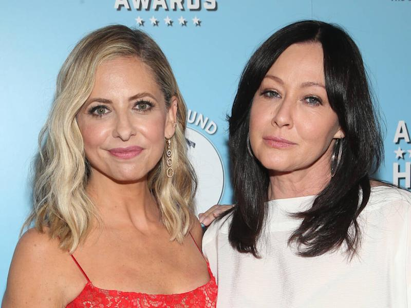 Celebrities send support to Shannen Doherty following cancer diagnosis