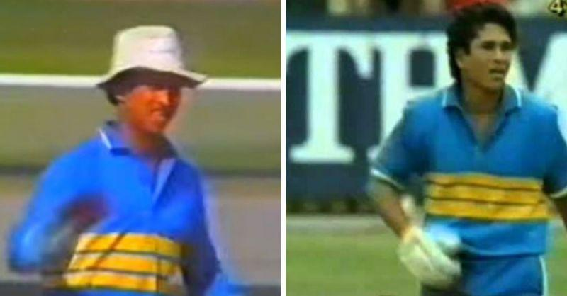 The design from 1985 changed to three big yellow stripes while the shade of blue became slightly darker (Image credits: YouTube)