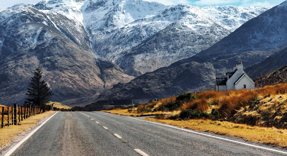 Glen Shiel in the Scottish Highlands, just off the North Coast 500 (Getty)
