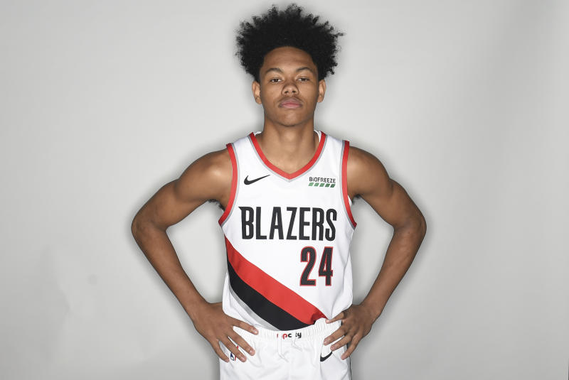 sale retailer c87a2 b38ea Trail Blazers rookie Anfernee Simons says water isn't wet