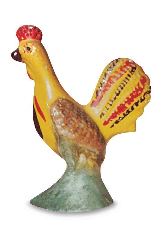 """<p><strong>What it was worth (2005): </strong>$950</p><p><strong>What it's worth now:</strong> $950</p><p><a href=""""https://www.ebay.com/itm/Vintage-Chalkware-Rooster-Wall-Hanger-Plaster-Chicken-Wall-Hanging-Chalk-Ware/283139219439"""" rel=""""nofollow noopener"""" target=""""_blank"""" data-ylk=""""slk:Chalkware figurines"""" class=""""link rapid-noclick-resp"""">Chalkware figurines</a> are lightweight models that are actually made with plaster of Paris. </p>"""