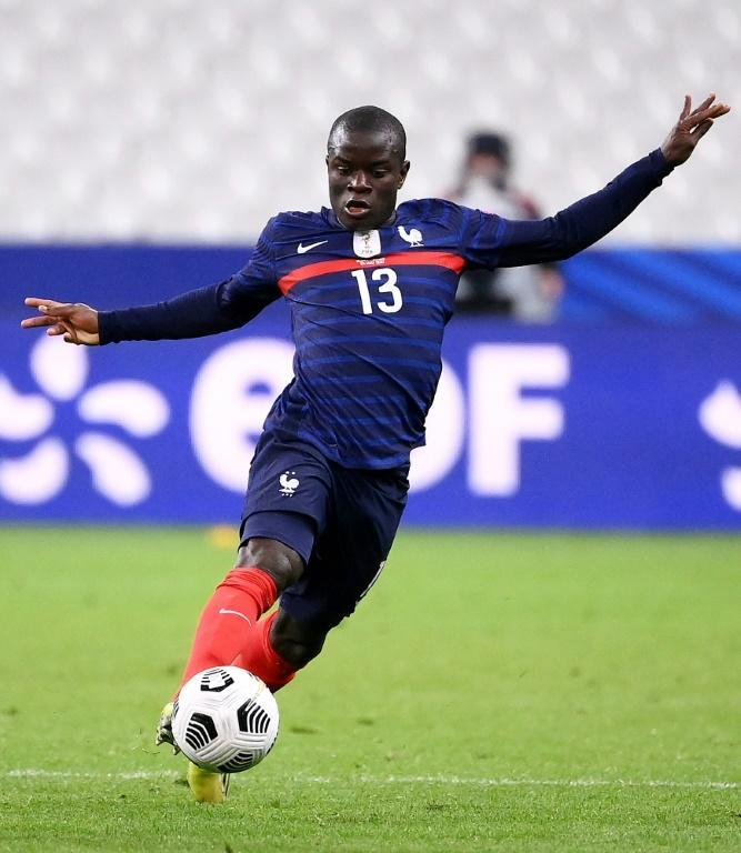 Kante playing for France earlier this year
