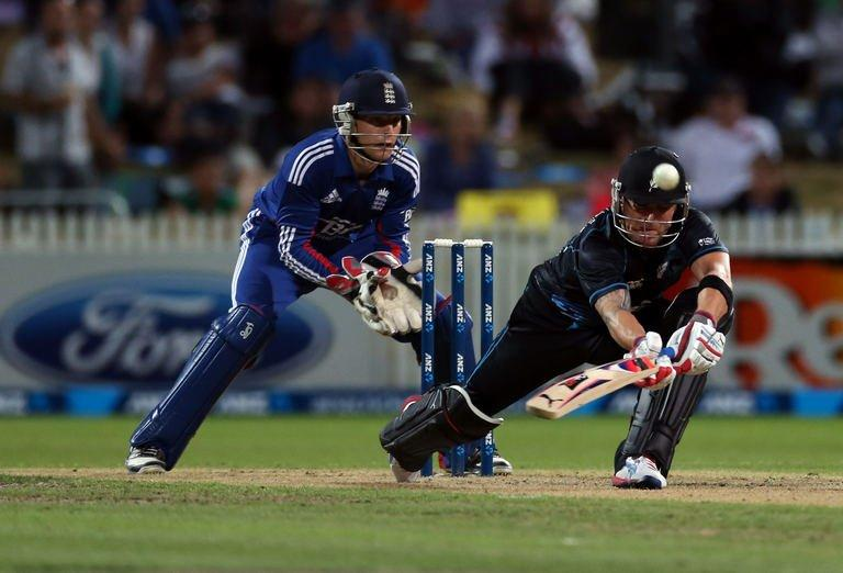 New Zealand's Brendon McCullum bats during the one day international in Hamilton on Febuary 17, 2013
