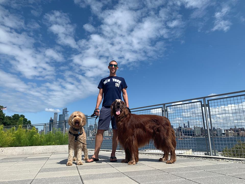 Josh Klein of Gold Coast Pet Care in Hoboken, NJ, in August 2019 (Credit: Josh Klein)