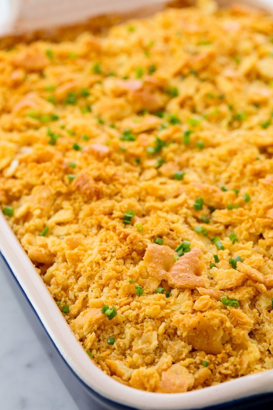 "<p>A layer of Ritz on top alwaysss wins.</p><p>Get the recipe from <a href=""https://www.delish.com/cooking/recipe-ideas/recipes/a55216/easy-yellow-squash-casserole-recipe/"" rel=""nofollow noopener"" target=""_blank"" data-ylk=""slk:Delish"" class=""link rapid-noclick-resp"">Delish</a>.</p>"