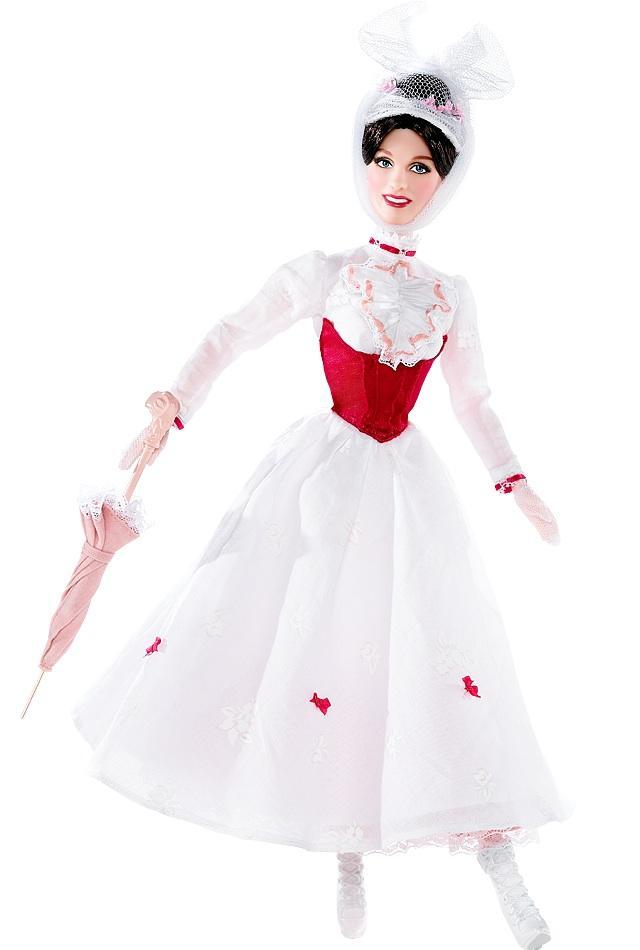 "<div class=""caption-credit""> Photo by: barbiecollector.com</div><b>""Mary Poppins"" doll, released in 2007 for $29.95</b> <br> Somehow this outfit is even more absurd in doll form."