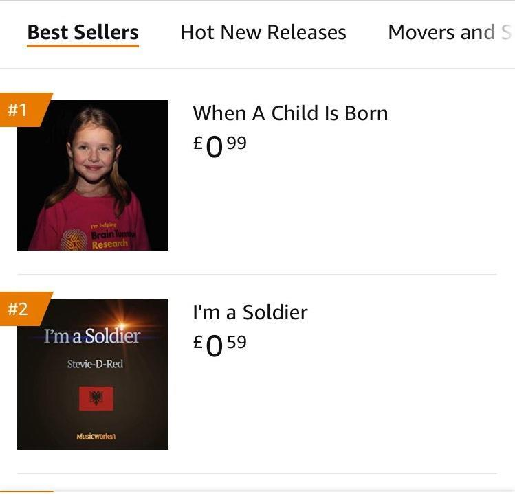 It hit the number two spot on Wednesday night