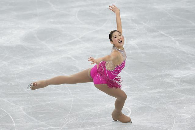 RIFU, JAPAN - NOVEMBER 23: Mirai Nagasu of the United States competes in the Ladies Short Program during day one of the ISU Grand Prix of Figure Skating NHK Trophy at Sekisui Heim Super Arena on November 23, 2012 in Rifu, Japan. (Photo by Kiyoshi Ota/Getty Images)