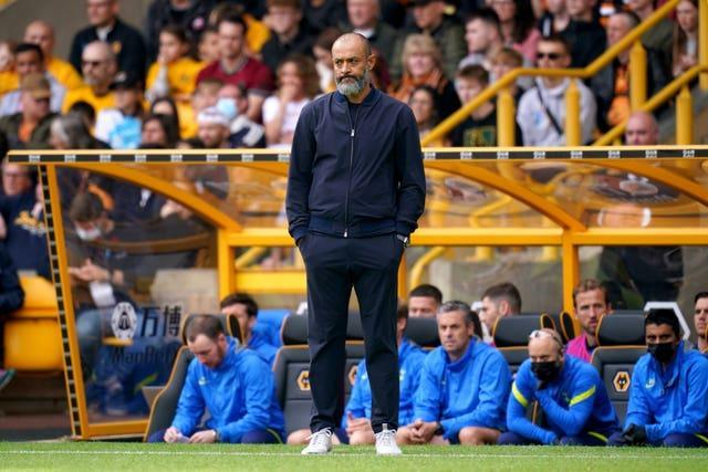 Nuno took over at Spurs after leaving Wolves in the summer