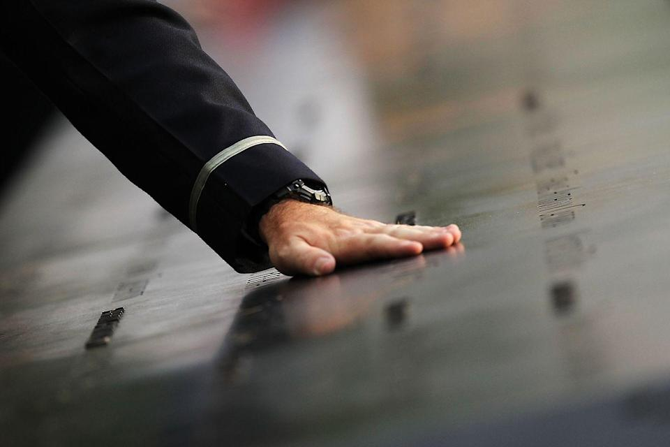 <p>Workers commemorate ten years after the clean up of Ground Zero officially concluded in May. </p>