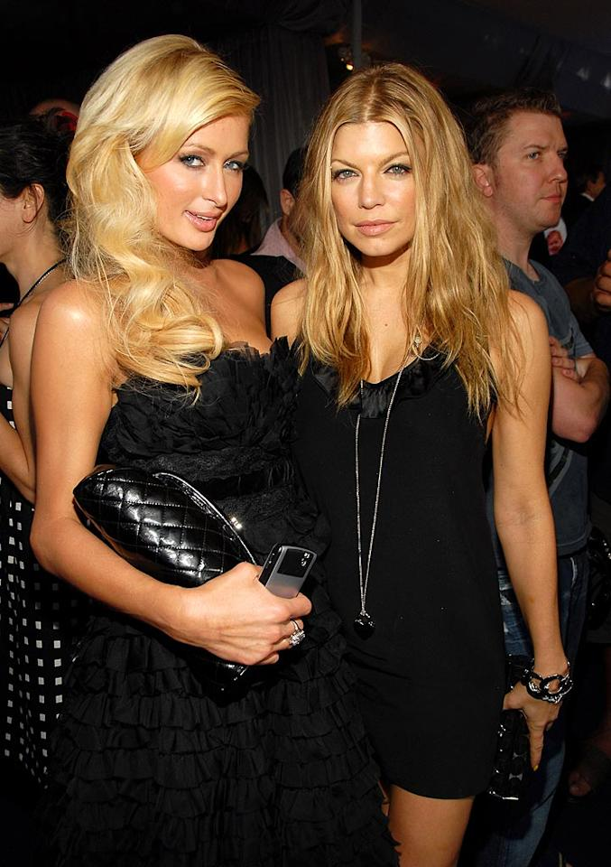 """Paris and Fergie both look fabulous backstage at the MTV Movie Awards. Kevin Mazur/<a href=""""http://www.wireimage.com"""" target=""""new"""">WireImage.com</a> - June 3, 2007"""