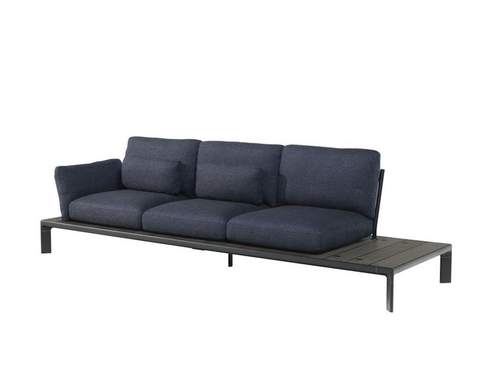 """<p>This design's smart modular form by Patrick Norguet consists of an aluminium frame with slats made of bamboo or WPC – an eco-friendly composite made of recycled bamboo wood and fibers. From £4,488, <a href=""""https://www.nunido.co.uk/emu-tami-sofa-2-seater.html"""" rel=""""nofollow noopener"""" target=""""_blank"""" data-ylk=""""slk:Nunido"""" class=""""link rapid-noclick-resp"""">Nunido</a><br></p>"""