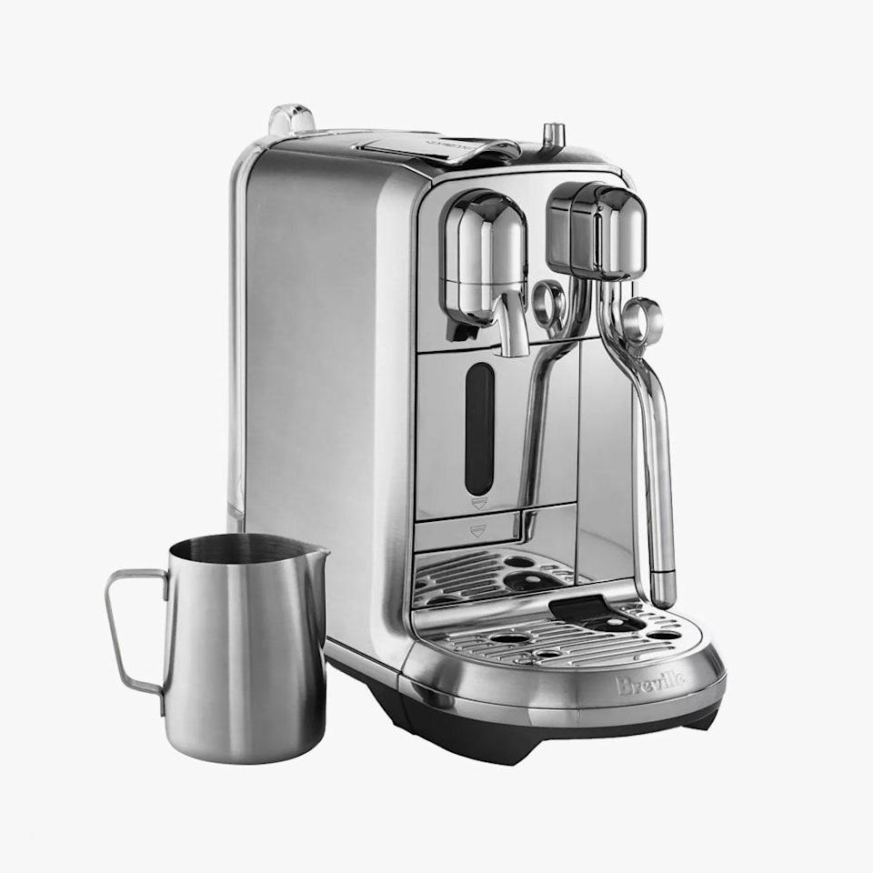 "They'll actually start to make coffee at home with this fancy maker. $750, BLOOMINGDALE'S. <a href=""https://www.bloomingdales.com/shop/product/nespresso-breville-creatista?ID=1830619"" rel=""nofollow noopener"" target=""_blank"" data-ylk=""slk:Get it now!"" class=""link rapid-noclick-resp"">Get it now!</a>"