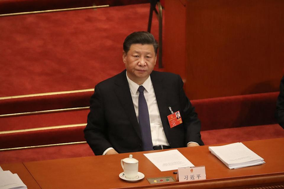 Chinese president Xi Jinping is pictured.