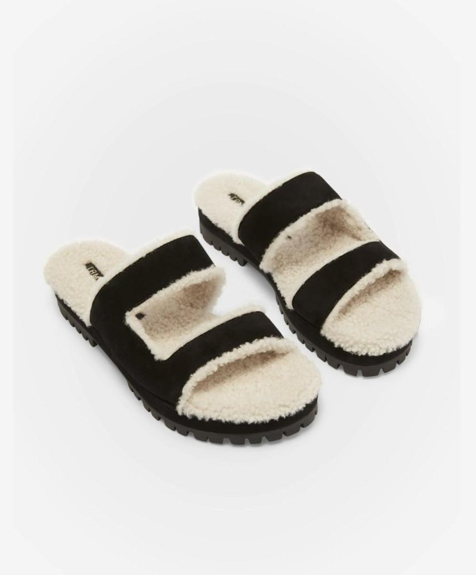 """<p><span>Tamara Mellon Fuzzy Slides</span> ($595)</p> <p>""""Tamara Mellon makes the comfiest boots so I was excited to see the brand enter the fuzzy slides market. I can easily slip these on when I'm taking my dog out for a walk or running errands, and they keep me warm."""" – NC</p>"""