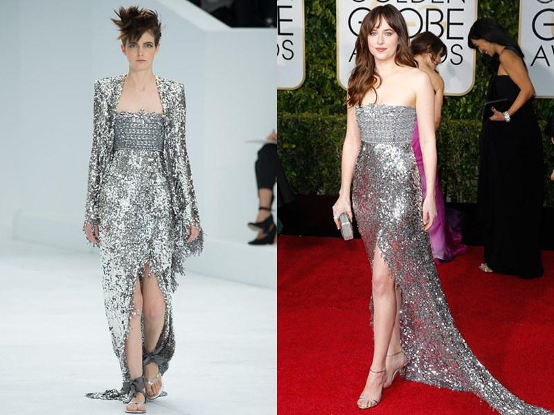 Chanel Fall 2014 Haute Couture; Dakota Johnson in 2015