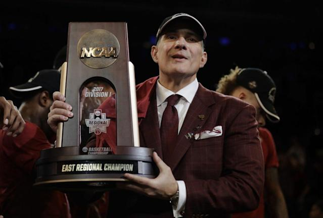Frank Martin and South Carolina are headed to the Final Four for the first time. (AP)