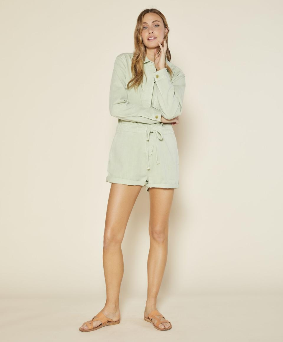 "<br><br><strong>Outerknown</strong> Wander Romper, $, available at <a href=""https://go.skimresources.com/?id=30283X879131&url=https%3A%2F%2Fwww.outerknown.com%2Fproducts%2Fwander-romper-seafoam%3Fvariant%3D31170659418135"" rel=""nofollow noopener"" target=""_blank"" data-ylk=""slk:Outerknown"" class=""link rapid-noclick-resp"">Outerknown</a>"