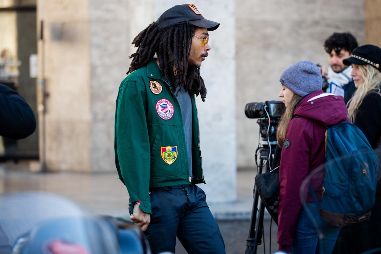 Luka Sabbat makes the definitive argument for dad hat over fitted.