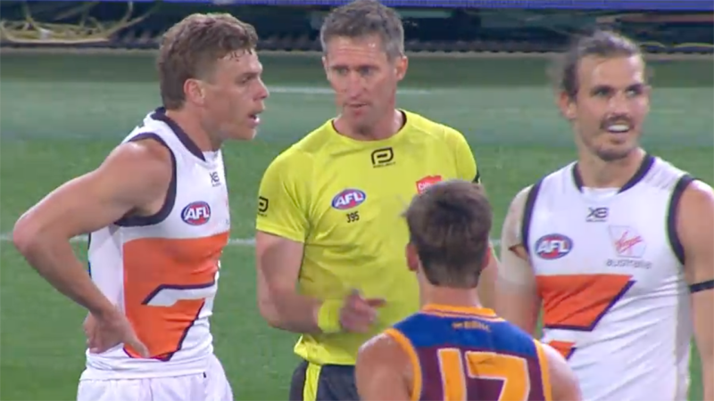 Shaun Ryan, pictured here issuing a warning to Adam Kennedy.