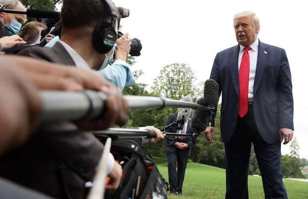 Journalist Tests Positive for COVID-19 After Covering Trump's Florida Trip
