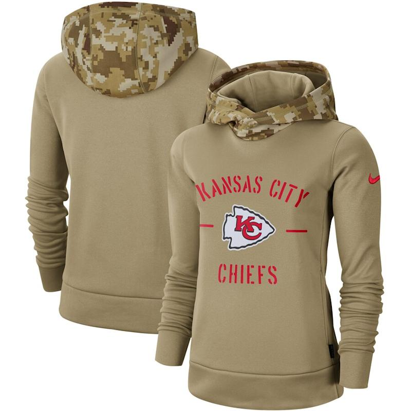 Women's Nike Chiefs 2019 Salute to Service Therma Pullover Hoodie