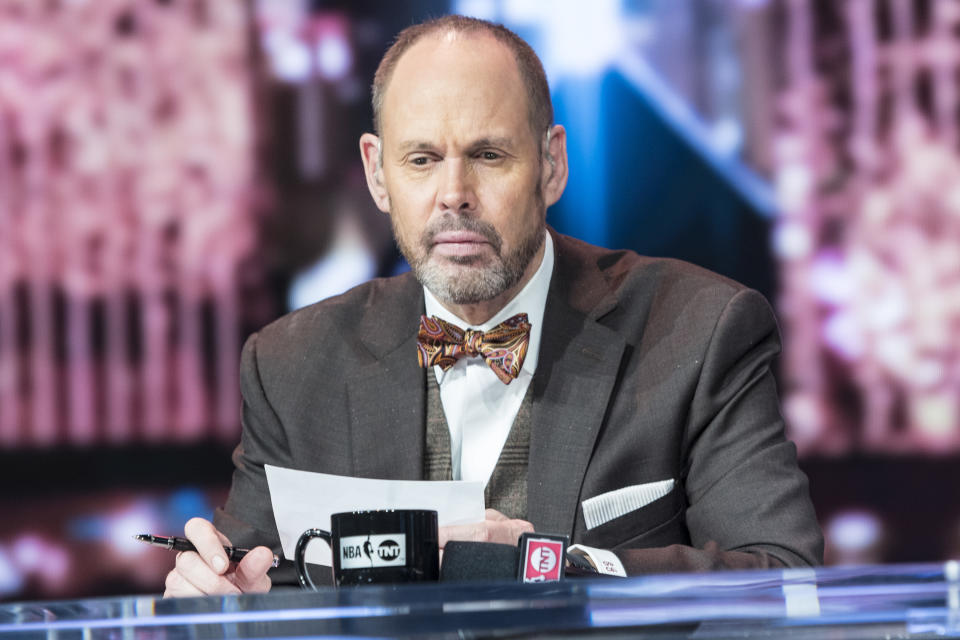 LAS VEGAS, NV - JANUARY 11: Ernie Johnson pictured during a special live NBA On TNT Telecast at CES 2018 in Las Vegas, Nevada on January 11, 2018. Credit: Damairs Carter/MediaPunch/IPX