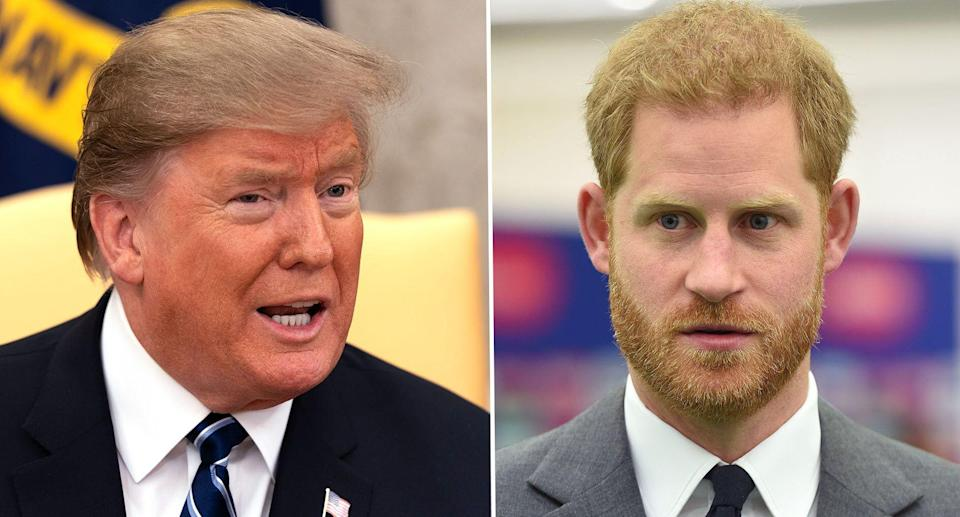 Donald Trump is expected to meet Prince Harry during the state visit [Photos: PA]
