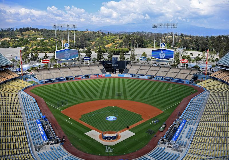 LOS ANGELES, CA - MAY 11: General view of an empty Dodger Stadium before the game between the Los Angeles Dodgers and the Washington Nationals on May 11, 2019 in Los Angeles, California. (Photo by Jayne Kamin-Oncea/Getty Images)