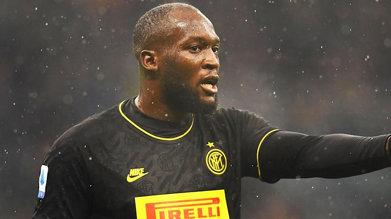 Romelu Menama Lukaku Bolingoli of FC Internazionale looks on during the Serie A match between FC Internazionale and SPAL at Stadio Giuseppe Meazza on December 1, 2019 in Milan, Italy. (Photo by Claudio Villa - Inter/Inter via Getty Images)